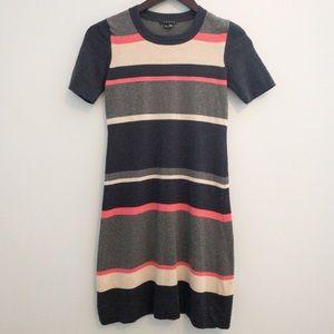 Theory Striped Sweater Dress